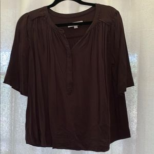 dark brown loft blouse